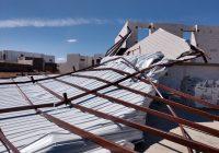 Vientos provocan daños en una vivienda, también se registró un incendio de pacas de rastrojo