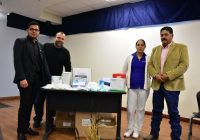 Dota Presidencia Municipal de Cuauhtémoc apoyo a estudiantes de Enfermería de la UACJ