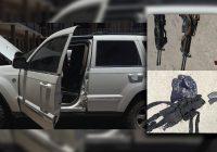 Asegura la CES vehículo blindado y equipo táctico en San Juanito