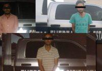"""Detienen a tres presuntos integrantes de """"La Línea"""" en Cuauhtémoc"""