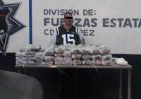 """Capturan a integrante de """"La Línea"""" con más de 45 kilos de droga"""