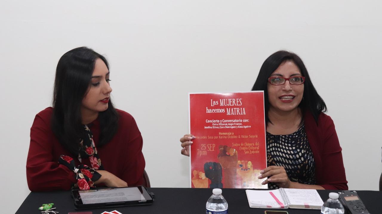 """Invitan al concierto y conversatorio """"Las Mujeres Hacemos Matria"""""""