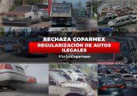 Rechaza Coparmex Regularización de Autos Ilegales
