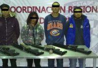 """Detienen a presuntos sicarios de """"La Línea"""", les aseguran una granada y armas de fuego"""