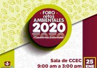 """Presidencia Municipal de Cuauhtémoc invita al foro """"Retos Ambientales 2020"""""""