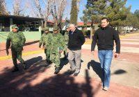 Alcalde de Cuauhtémoc se reúne con el comandante del 2do Batallón de Infantería