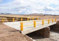 Entrega municipio puente vehícular en Anáhuac con inversión de 1 mdp