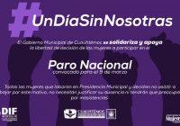 Respalda Presidencia de Cuauhtémoc, paro nacional de mujeres