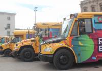 Entrega FECHAC y Gibierno, camiones escolares a municipios